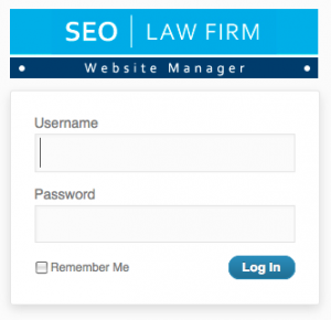 Attorney Website Management Login