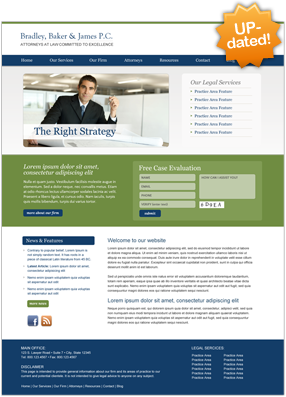 Lawyer Website Layout Five