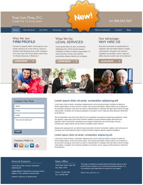 Attorney Website Layout Ten