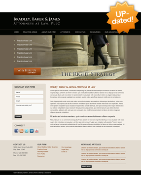 Lawyer Website Layout One