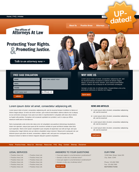 Attorney Website Layout Two