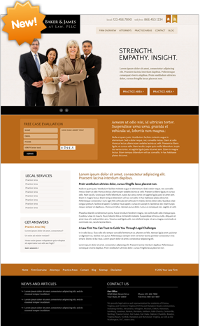 Lawyer Website Layout Three