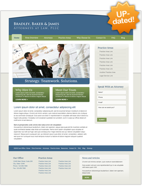 Attorney Website Layout Six
