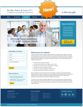 Lawyer Website Layout Nine